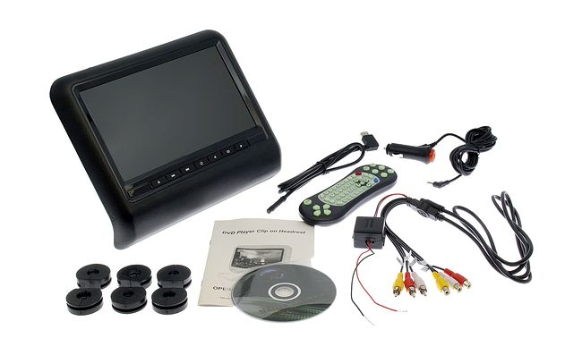 "Монитор на подголовник Ksize FD-101BL 10.1"" с функцией DVD/USB/SD/Game (черный) 7"