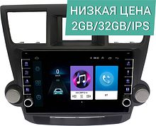 Штатная магнитола Toyota Highlander 2007 - 2013 Wide Media LC1086ON-2/32 для авто с усил. тип2